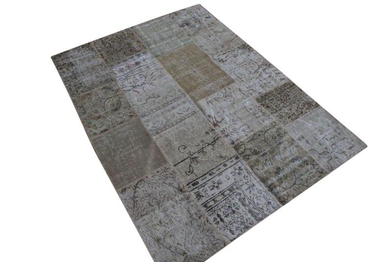 Naturel patchwork vloerkleed   6067  (240cm x 170cm) VERKOCHT