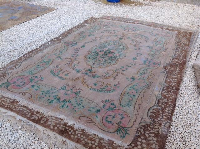 Recoloured vintage vloerkleed uit Turkije 298cm x 197cm, no 4261