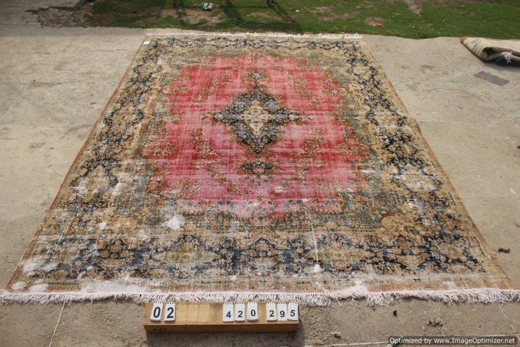 NIEUW INGEKOCHT groot vintage vloerkleed  uit het Midden Oosten 420cm x 295cm, no 0105