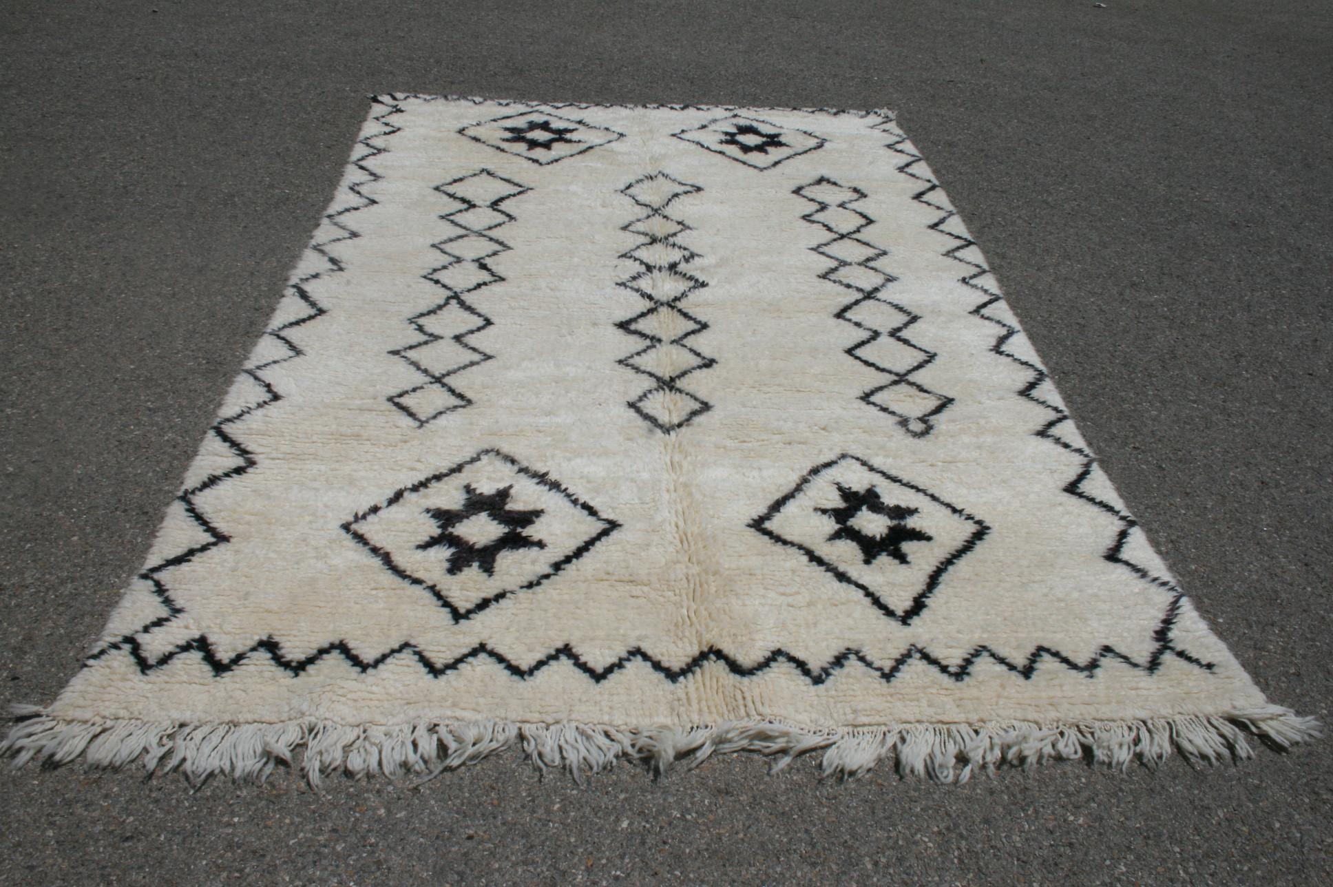 Beni Ouarain vloerkleed uit Marokko no 1841  286cm x 184cm