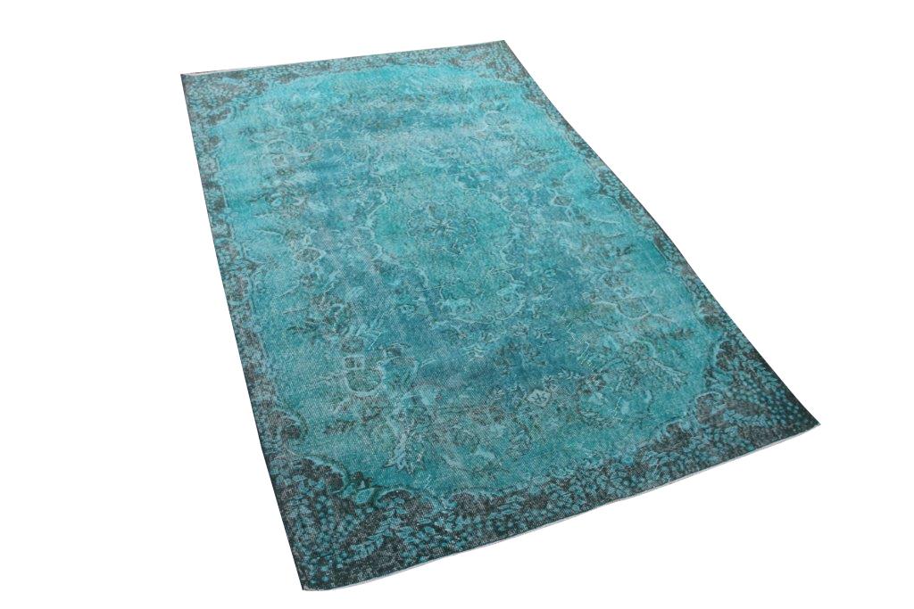 Blauw vintage vloerkleed nr 4642 (266cm x 172cm)