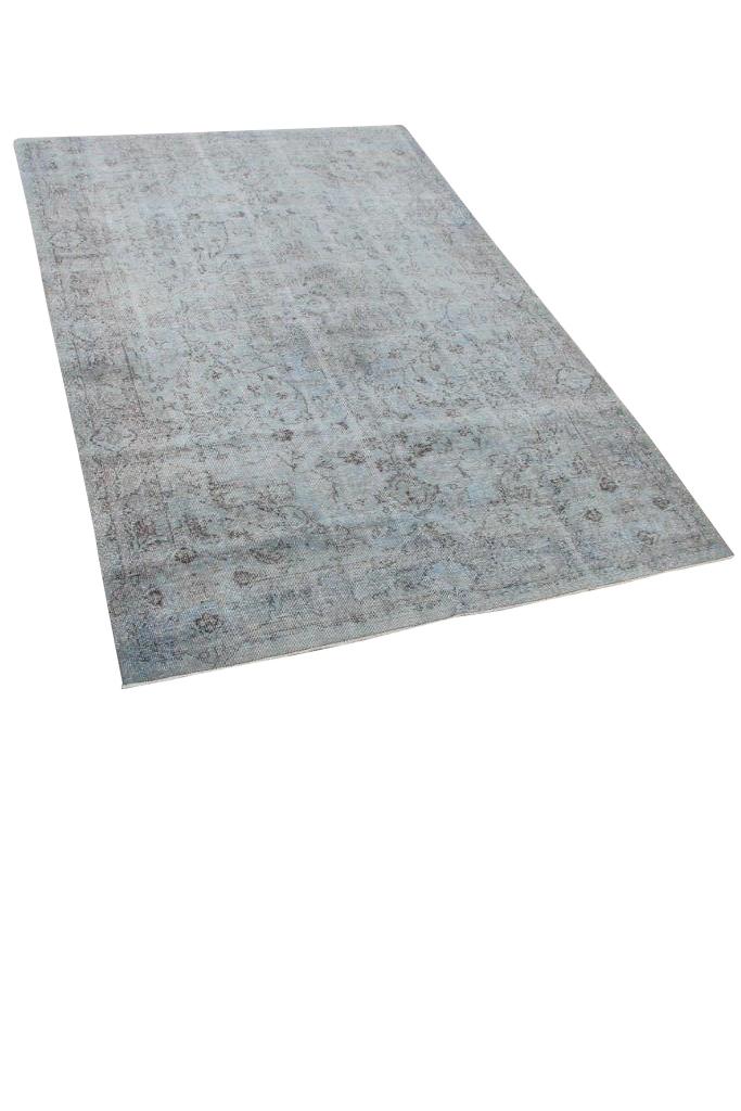 Grijsblauw vintage vloerkleed nr 4636 (287cm x 188cm)
