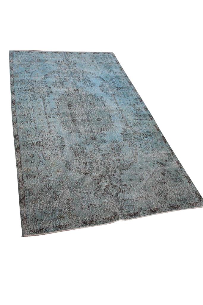 Blauw vintage vloerkleed nr 4734 (301cm x 165cm)