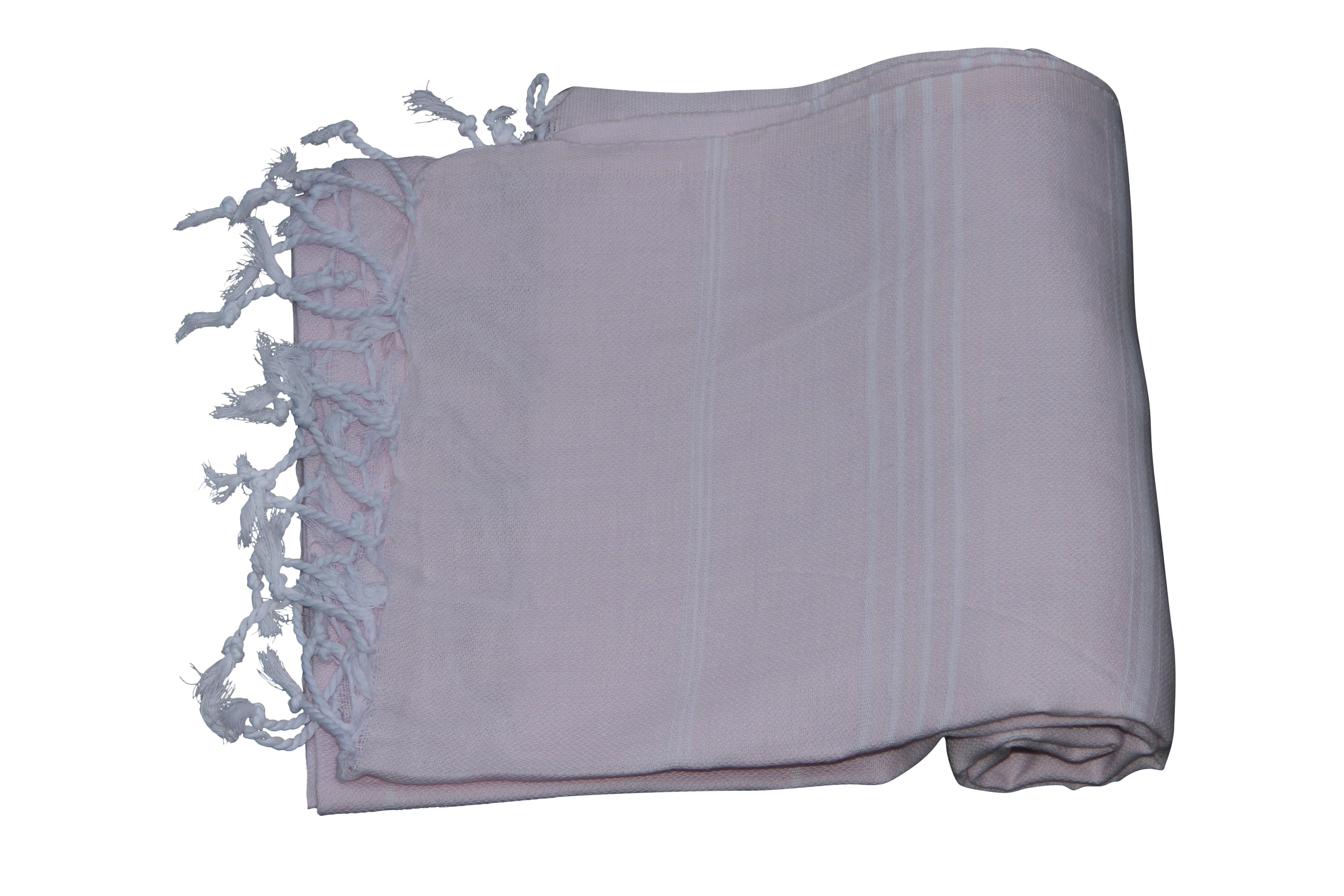 Hamamdoek, 100% katoen, zacht roze 100cm x 180cm.  100% geweven katoenen handdoek.