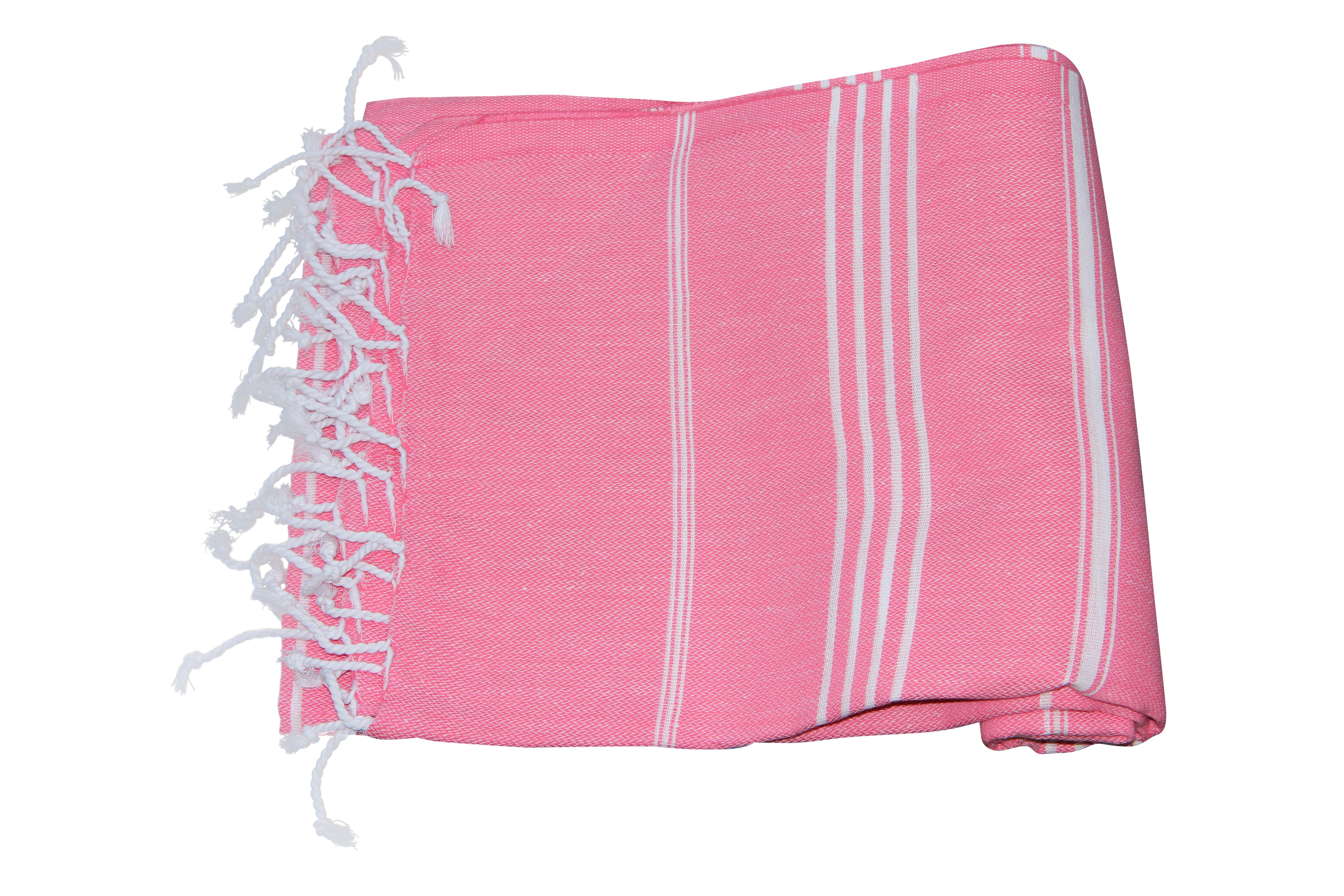 Hamamdoek roze 100 katoen (180cm x 100cm)