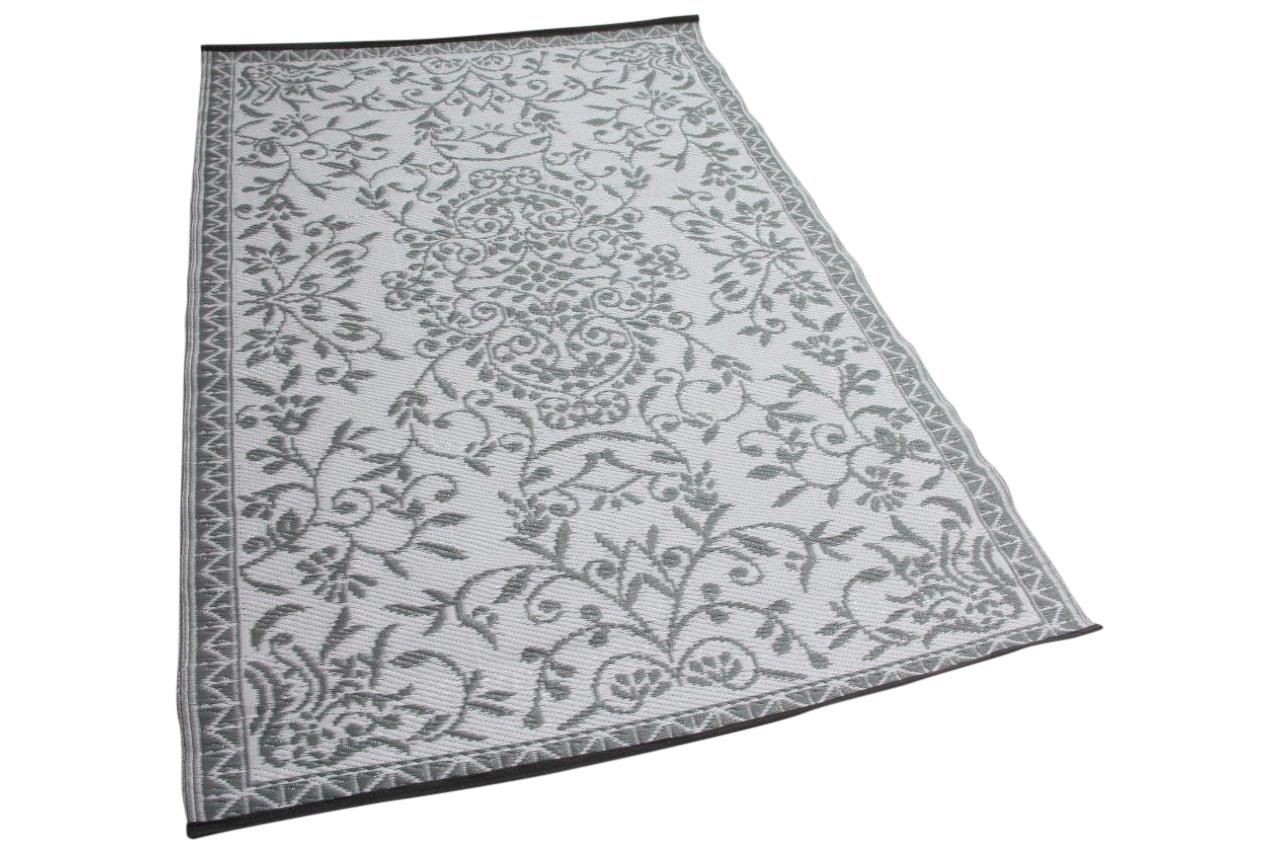 buitenkleed wit grijs gemaakt van gevlochten gerecycled kunststof