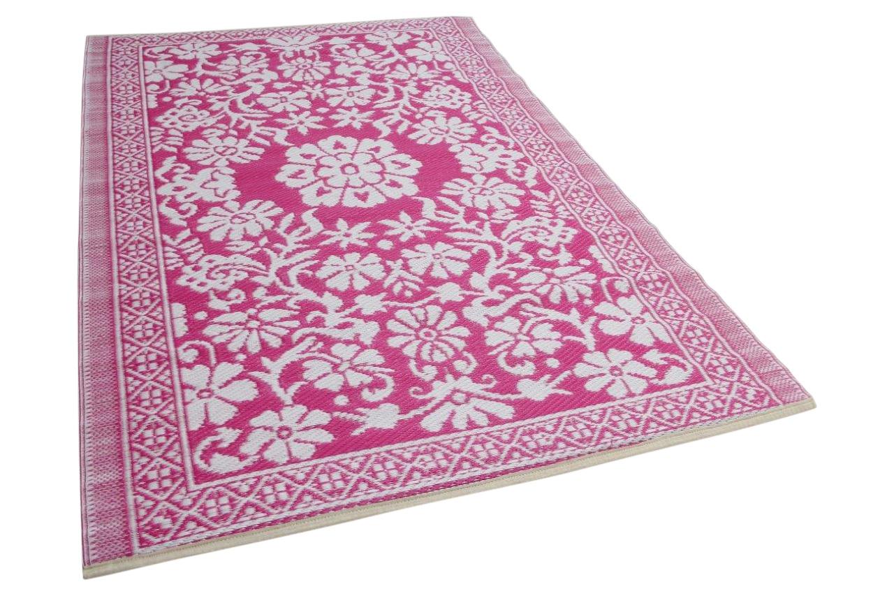 Roze wit buitenkleed 180cm x 120cm