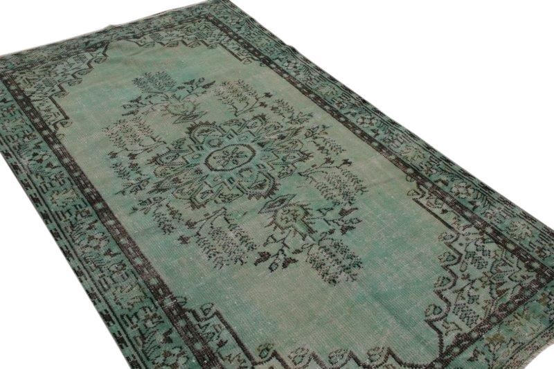 Jade groen vintage vloerkleed 250cm x 147cm  (nr5042)