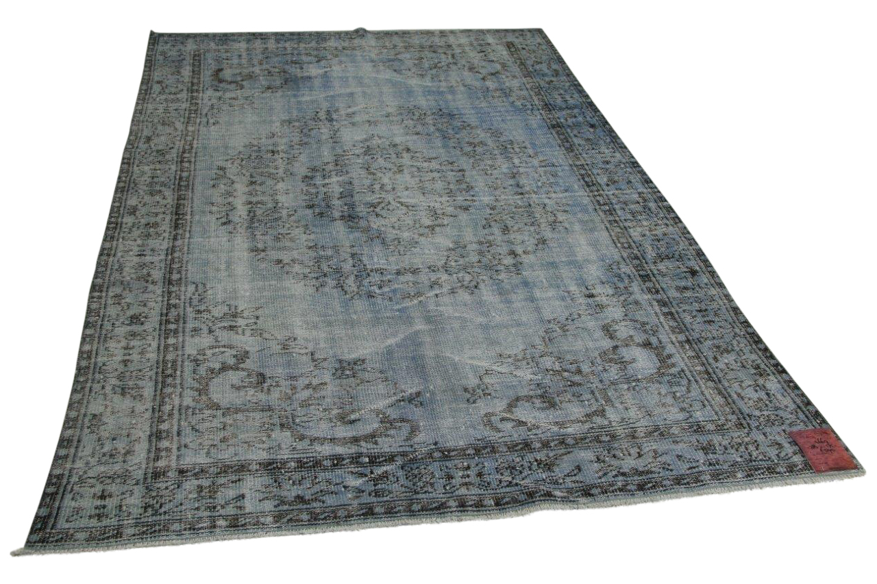 Jeansblauw vloerkleed 284cm x 175cm nr4669