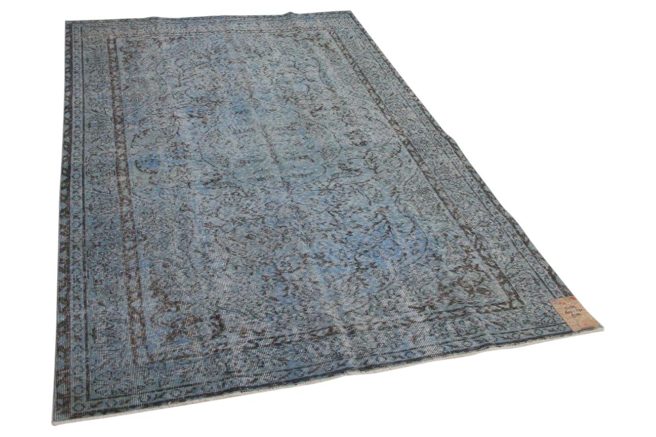 Jeansblauw vloerkleed 5439