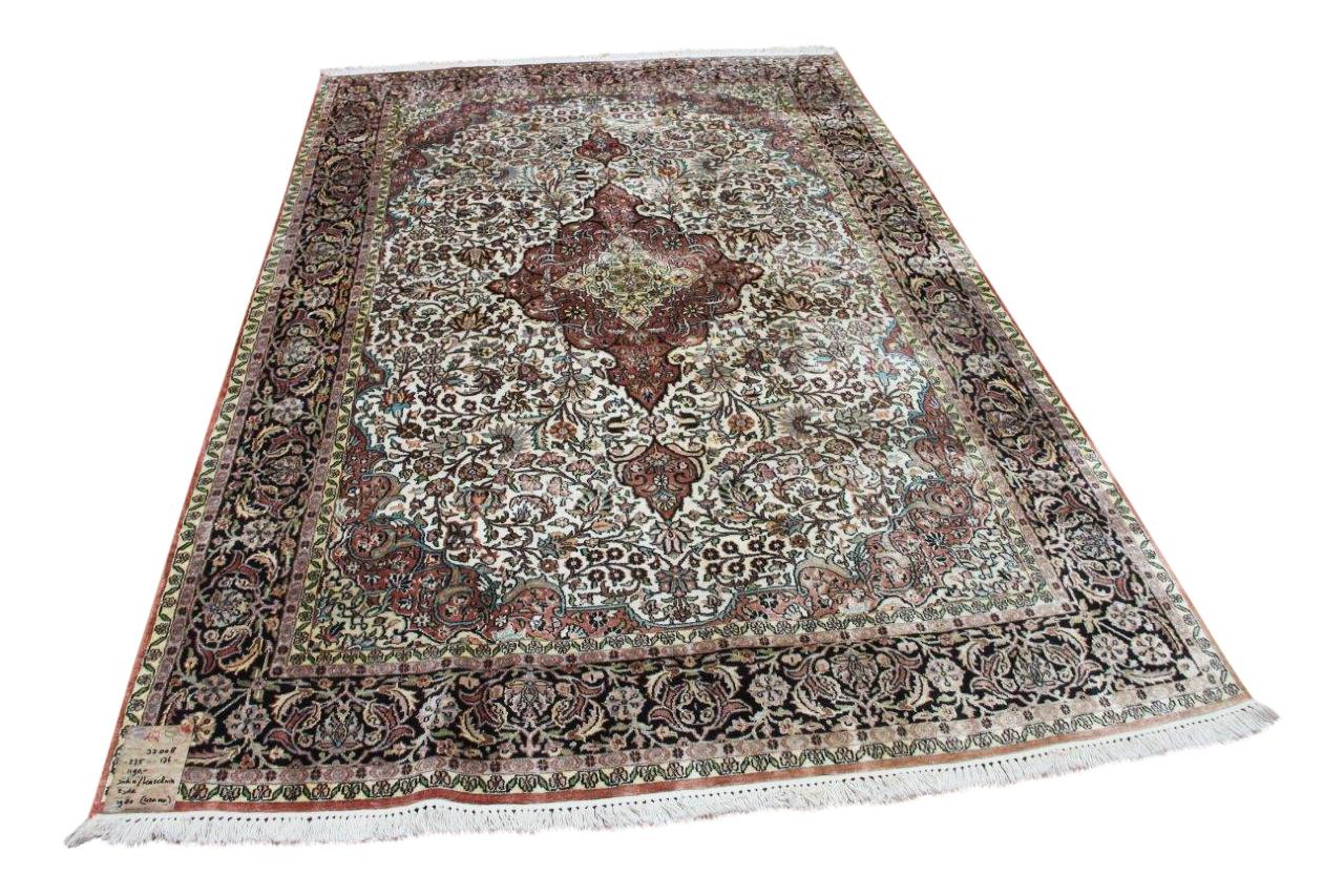 Kaschmir zijde vloerkleed nr33008
