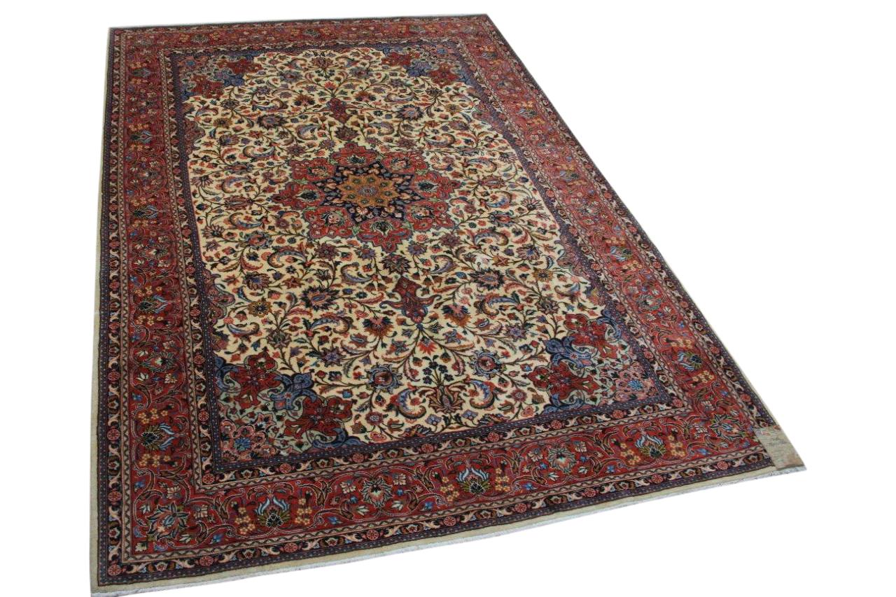 Vintage Kashmar vloerkleed uit 1970, nr.13406, 297cm x 208cm