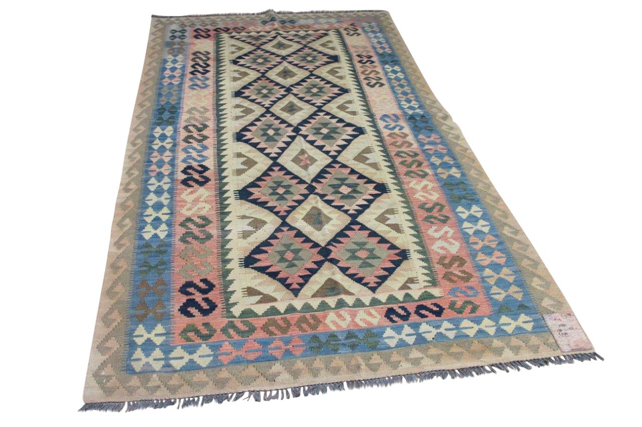 Handgemaakte kelim uit Afghanistan 2991 270cm x 153cm