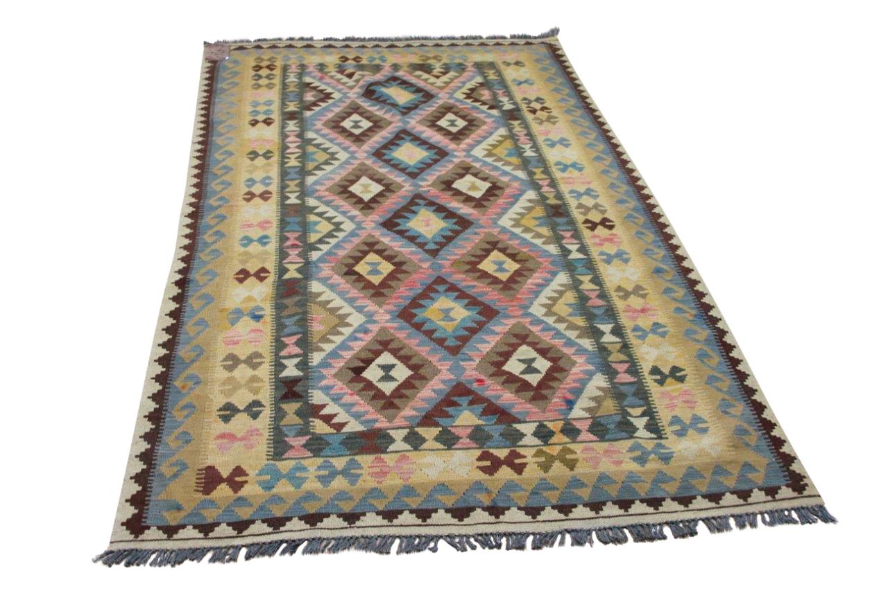 Handgemaakte kelim uit Afghanistan 4159 251cm x 156cm