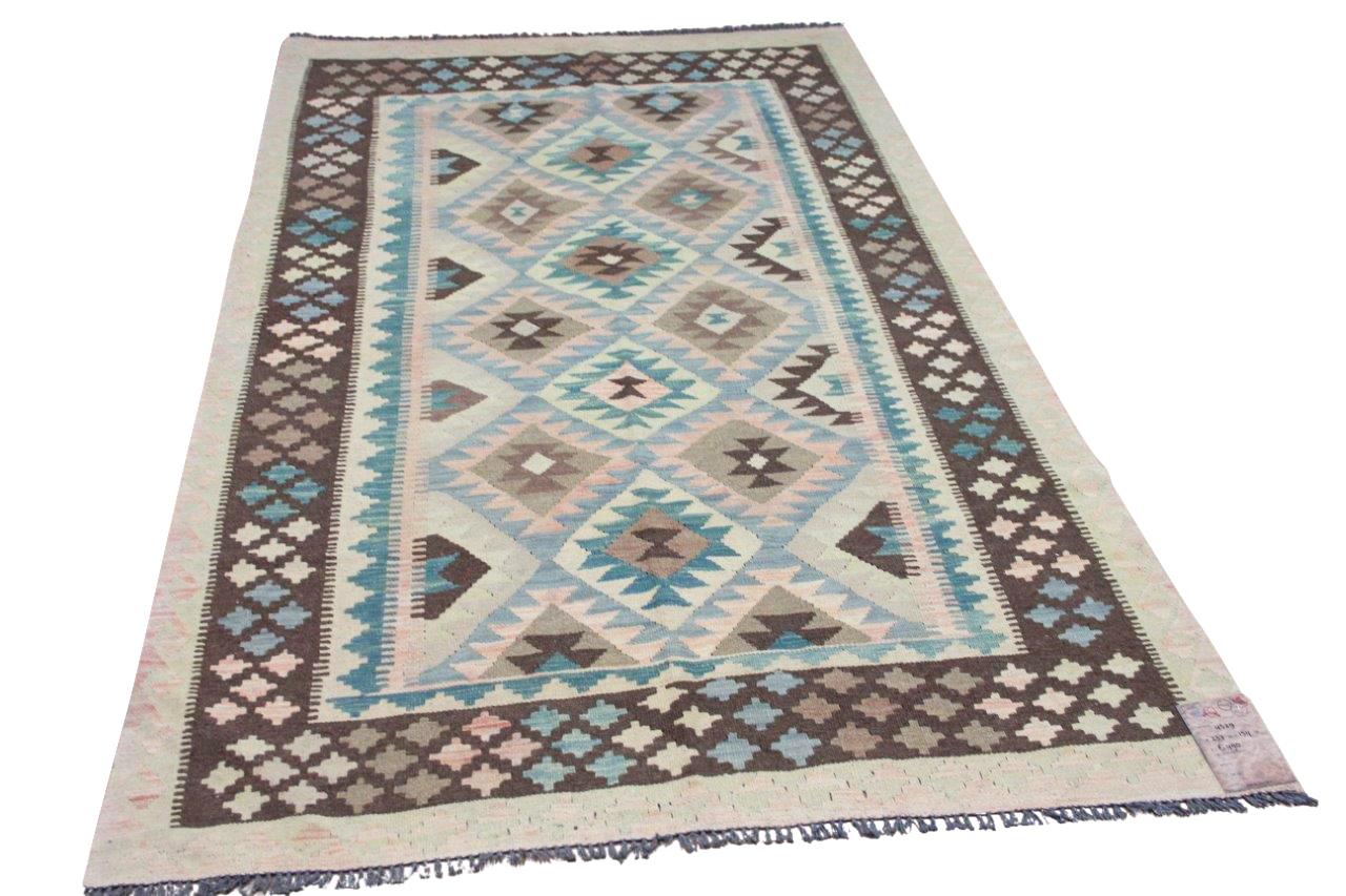 Handgemaakte kelim uit Afghanistan 4529 237cm x 154cm