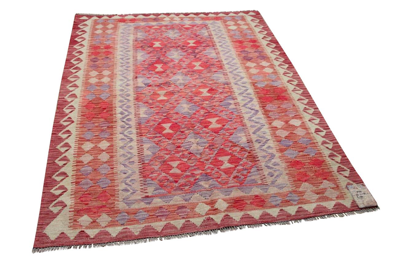 Handgemaakte kelim uit Afghanistan 9452 221cm x 170cm