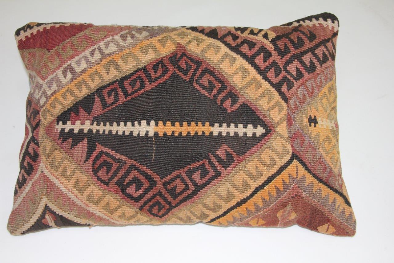 Kussen gemaakt van kleed uit anatolie  60cm x 40cm incl binnenkussen katoenen achterkant (beige)