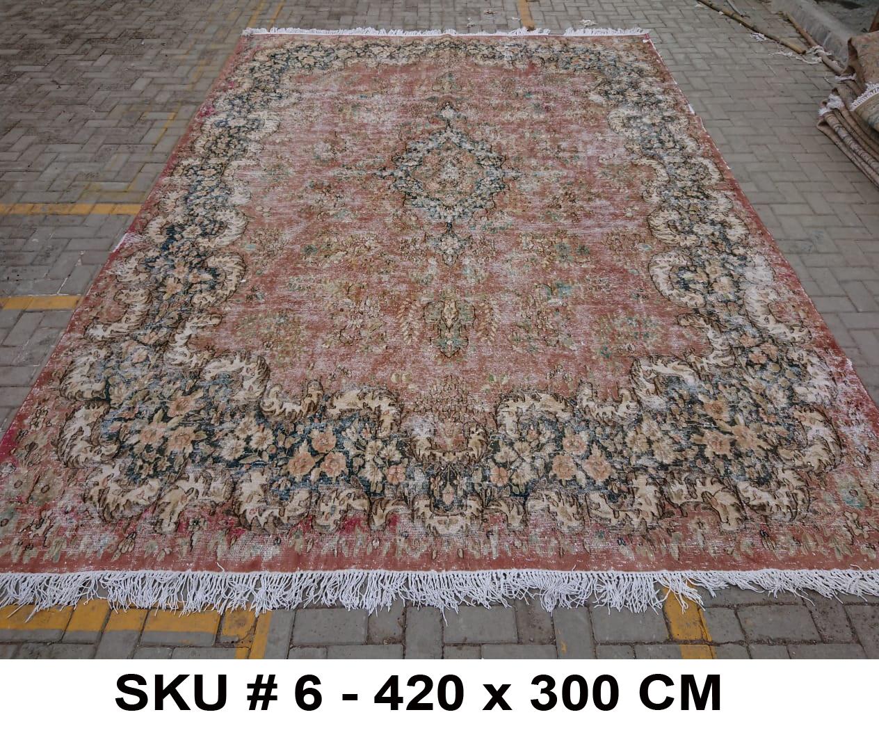 Vintage vloerkleed, nr.62335, 420cm x 300cm