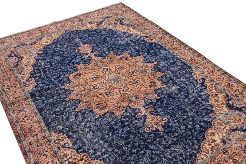 Blauw vintage vloerkleed 268cm x 204cm  (nr4986)