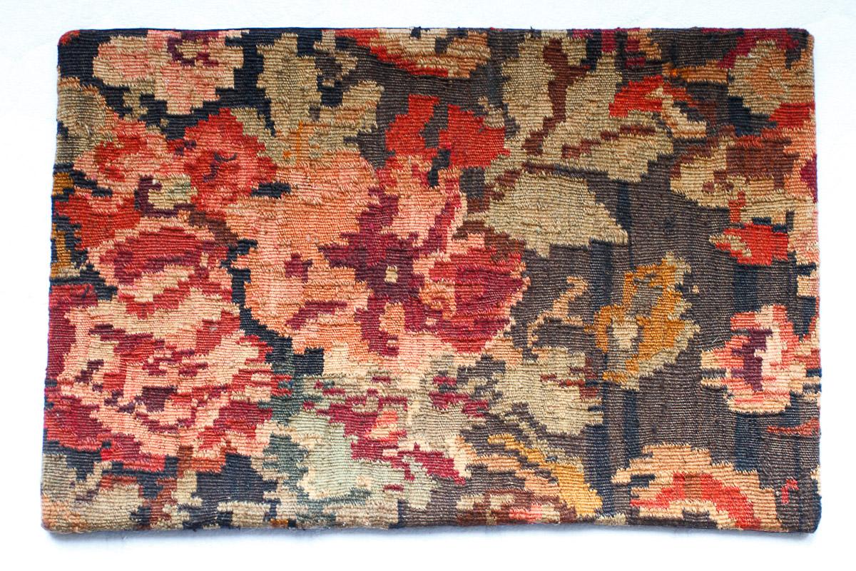 Rozenkelim kussen nr 1502 (60cm x 40cm) Kussen gemaakt van authentieke rozenkelim, inclusief binnenkussen