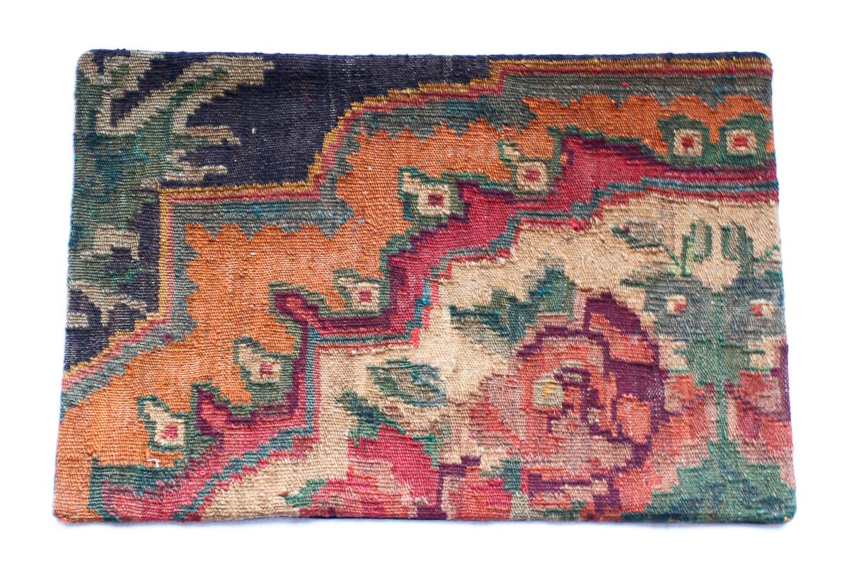 Rozenkelim kussen nr 1507 (60cm x 40cm) Kussen gemaakt van authentieke rozenkelim, inclusief binnenkussen