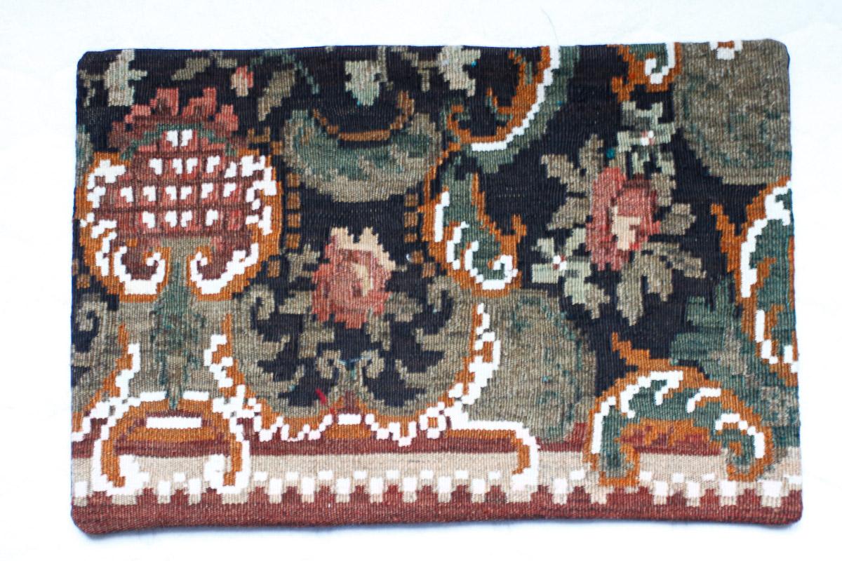 Rozenkelim kussen nr 1524 (60cm x 40cm) Kussen gemaakt van authentieke rozenkelim, inclusief binnenkussen