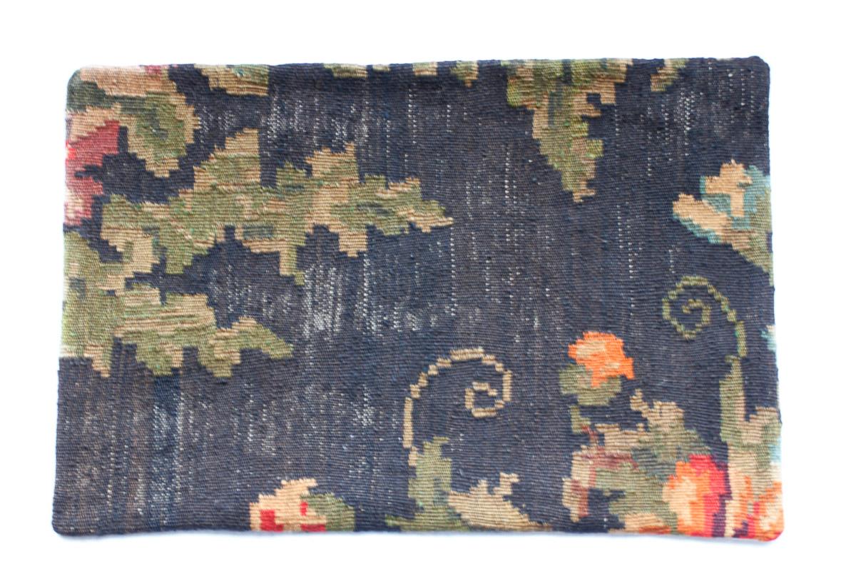 Rozenkelim kussen nr 1526 (60cm x 40cm) Kussen gemaakt van authentieke rozenkelim, inclusief binnenkussen