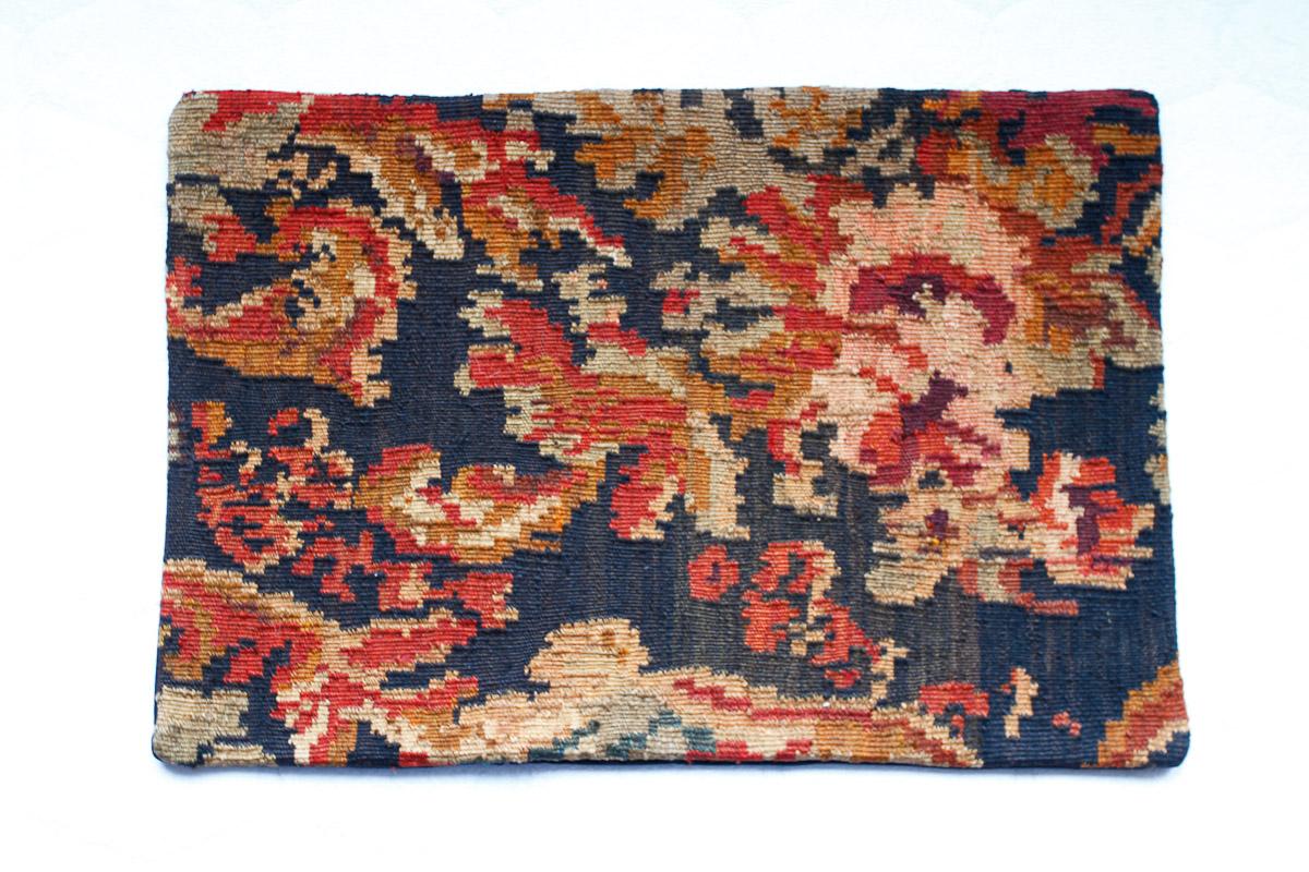 Rozenkelim kussen nr 1532 (60cm x 40cm) Kussen gemaakt van authentieke rozenkelim, inclusief binnenkussen