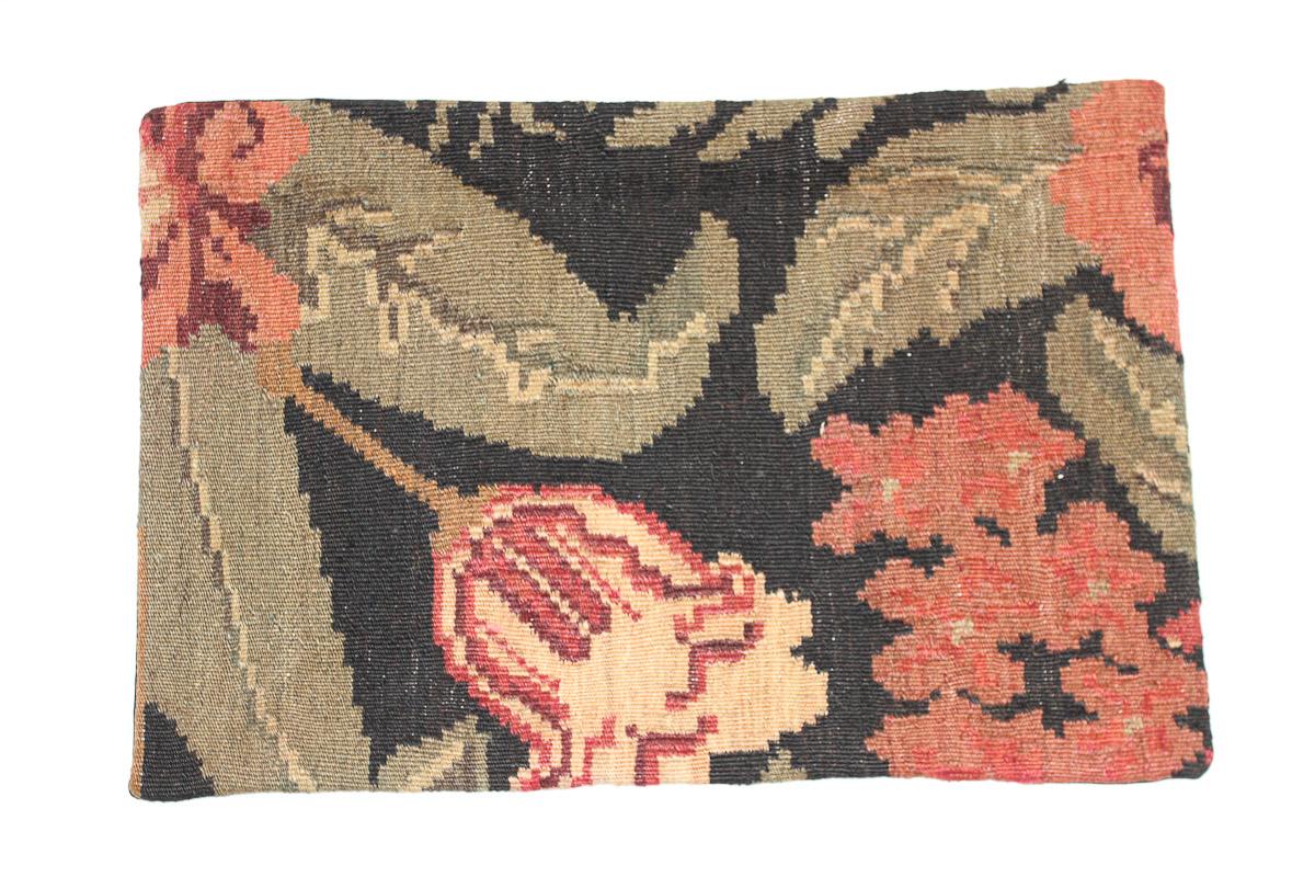 Rozenkelim kussen nr 1534 (60cm x 40cm) Kussen gemaakt van authentieke rozenkelim, inclusief binnenkussen