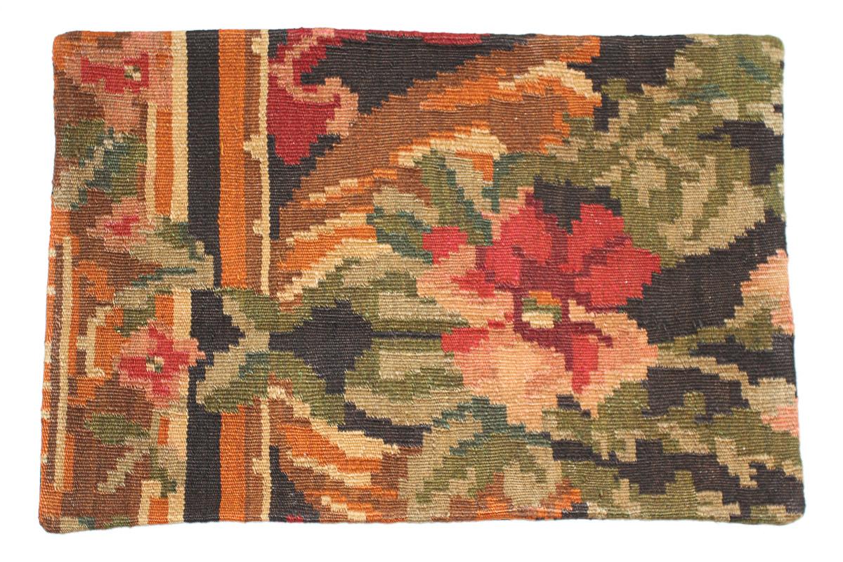 Rozenkelim kussen nr 1538 (60cm x 40cm) Kussen gemaakt van authentieke rozenkelim, inclusief binnenkussen