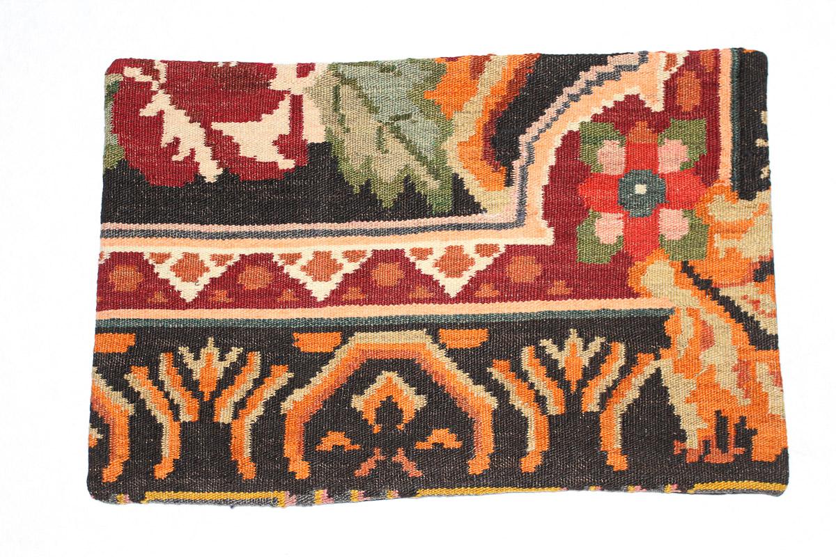 Rozenkelim kussen nr 1554 (60cm x 40cm) Kussen gemaakt van authentieke rozenkelim, inclusief binnenkussen