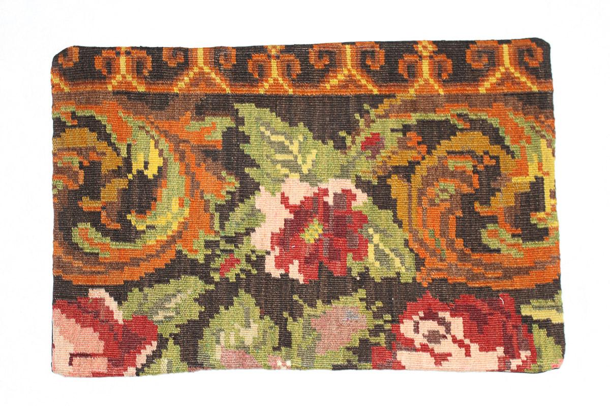 Rozenkelim kussen nr 1558 (60cm x 40cm) Kussen gemaakt van authentieke rozenkelim, inclusief binnenkussen
