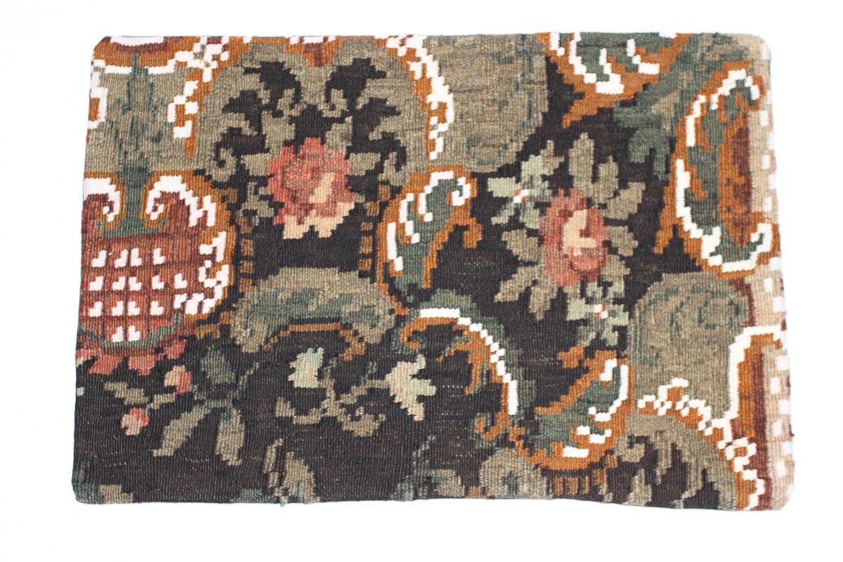 Rozenkelim kussen nr 1569 (60cm x 40cm) Kussen gemaakt van authentieke rozenkelim, inclusief binnenkussen