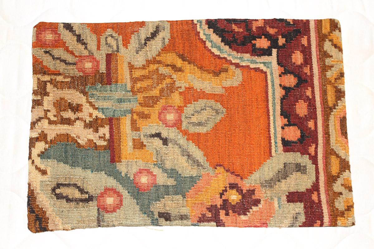 Rozenkelim kussen nr 1587 (60cm x 40cm) Kussen gemaakt van authentieke rozenkelim, inclusief binnenkussen