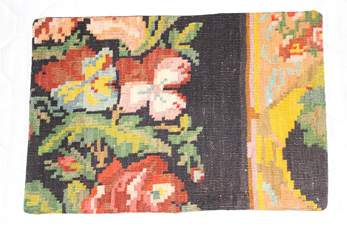 Rozenkelim kussen nr 1589 (60cm x 40cm) Kussen gemaakt van authentieke rozenkelim, inclusief binnenkussen