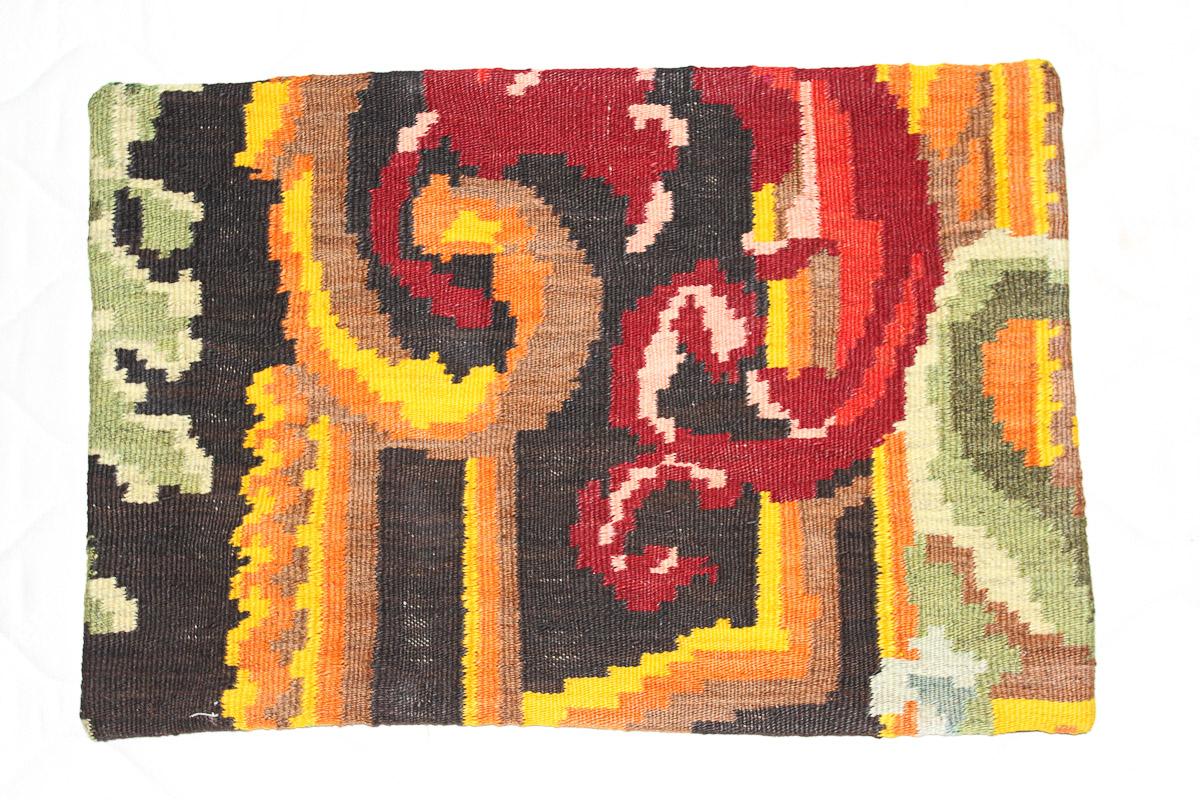 Rozenkelim kussen nr 1595 (60cm x 40cm) Kussen gemaakt van authentieke rozenkelim, inclusief binnenkussen