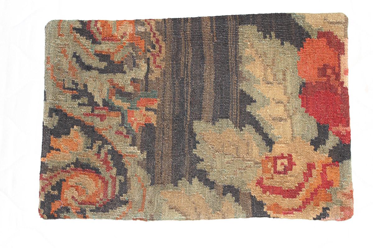 Rozenkelim kussen nr 1598 (60cm x 40cm) Kussen gemaakt van authentieke rozenkelim, inclusief binnenkussen