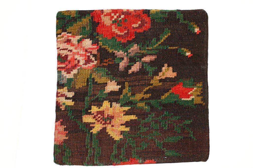 Rozenkelim kussen nr 16006 (45 cm x 45 cm) Kussen gemaakt van authentieke rozenkelim, inclusief binnenkussen