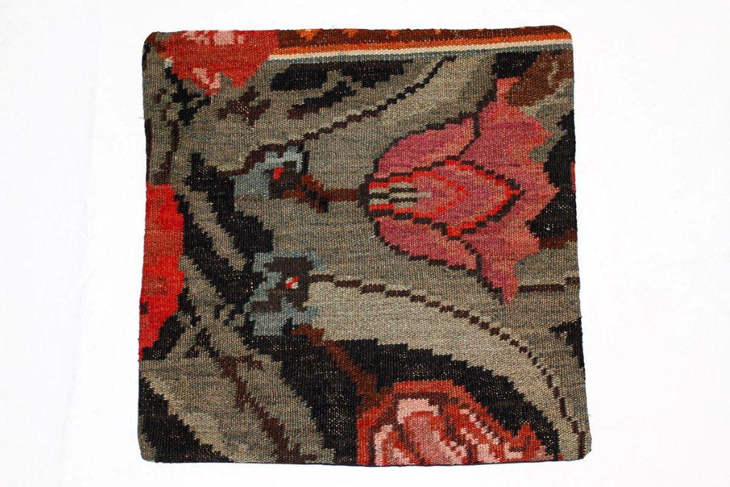 Rozenkelim kussen nr 16007 (45 cm x 45 cm) Kussen gemaakt van authentieke rozenkelim, inclusief binnenkussen