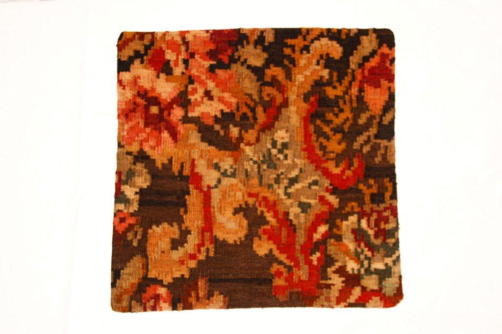 Rozenkelim kussen nr 16009 (45 cm x 45 cm) Kussen gemaakt van authentieke rozenkelim, inclusief binnenkussen