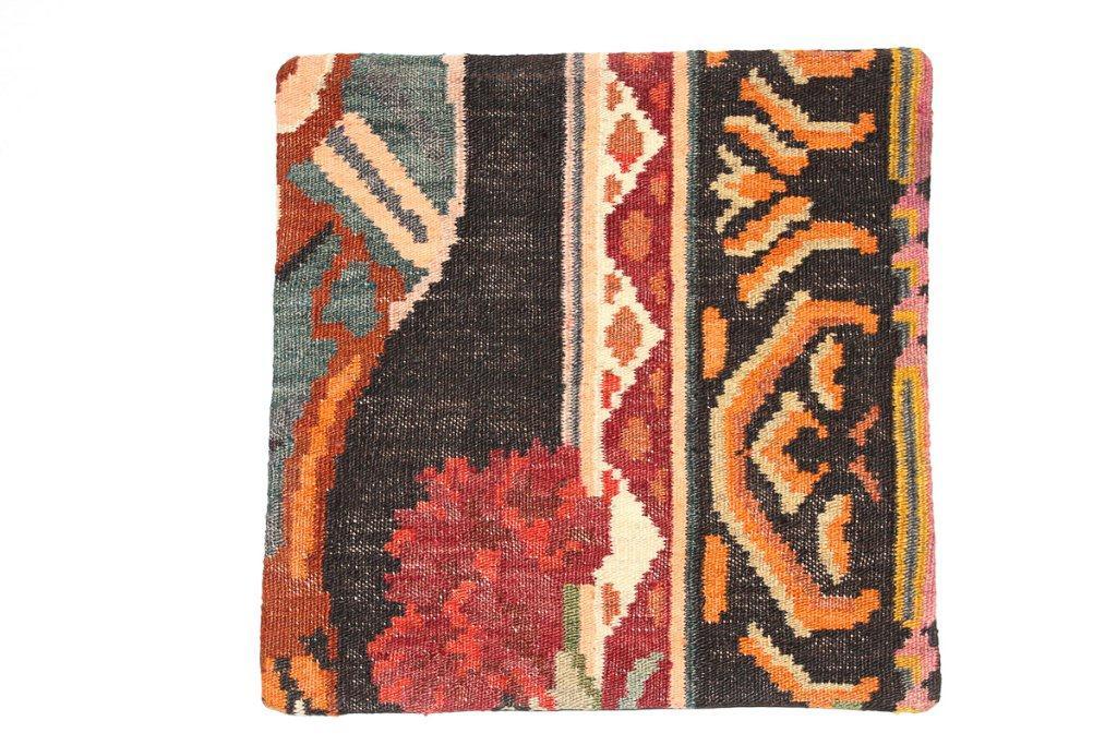Rozenkelim kussen nr 16016 (45 cm x 45 cm) Kussen gemaakt van authentieke rozenkelim, inclusief binnenkussen