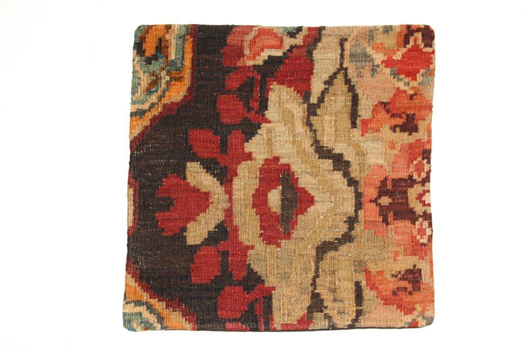 Rozenkelim kussen nr 16017 (45 cm x 45 cm) Kussen gemaakt van authentieke rozenkelim, inclusief binnenkussen