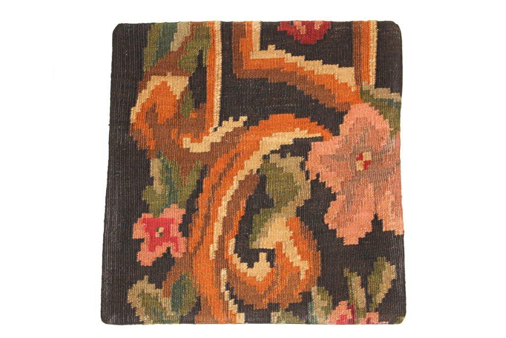 Rozenkelim kussen nr 16019 (45 cm x 45 cm) Kussen gemaakt van authentieke rozenkelim, inclusief binnenkussen