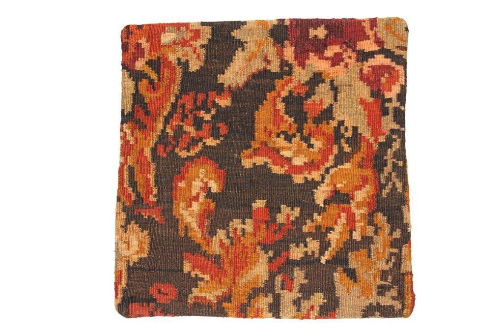 Rozenkelim kussen nr 16022 (45 cm x 45 cm) Kussen gemaakt van authentieke rozenkelim, inclusief binnenkussen