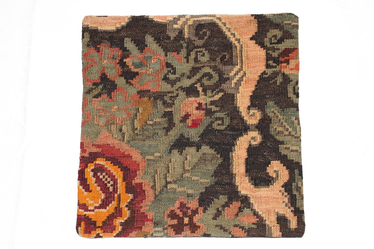 Rozenkelim kussen nr 16033 (45cm x 45cm) Kussen gemaakt van authentieke rozenkelim, inclusief binnenkussen