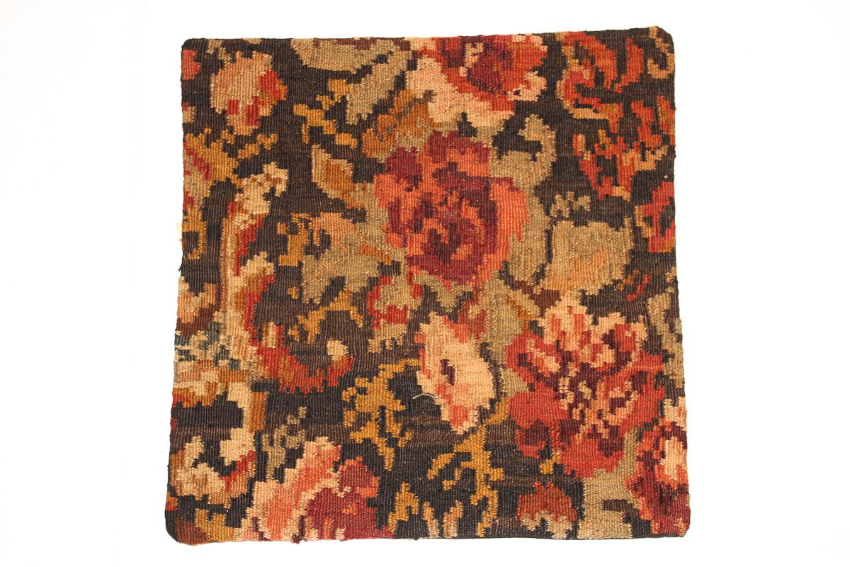 Rozenkelim kussen nr 16035 (45cm x 45cm) Kussen gemaakt van authentieke rozenkelim, inclusief binnenkussen