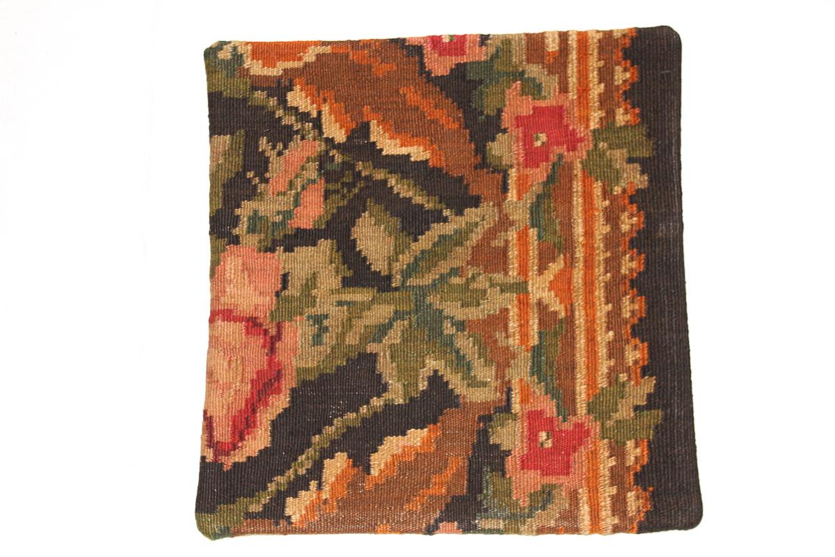 Rozenkelim kussen nr 16037 (45cm x 45cm) Kussen gemaakt van authentieke rozenkelim, inclusief binnenkussen