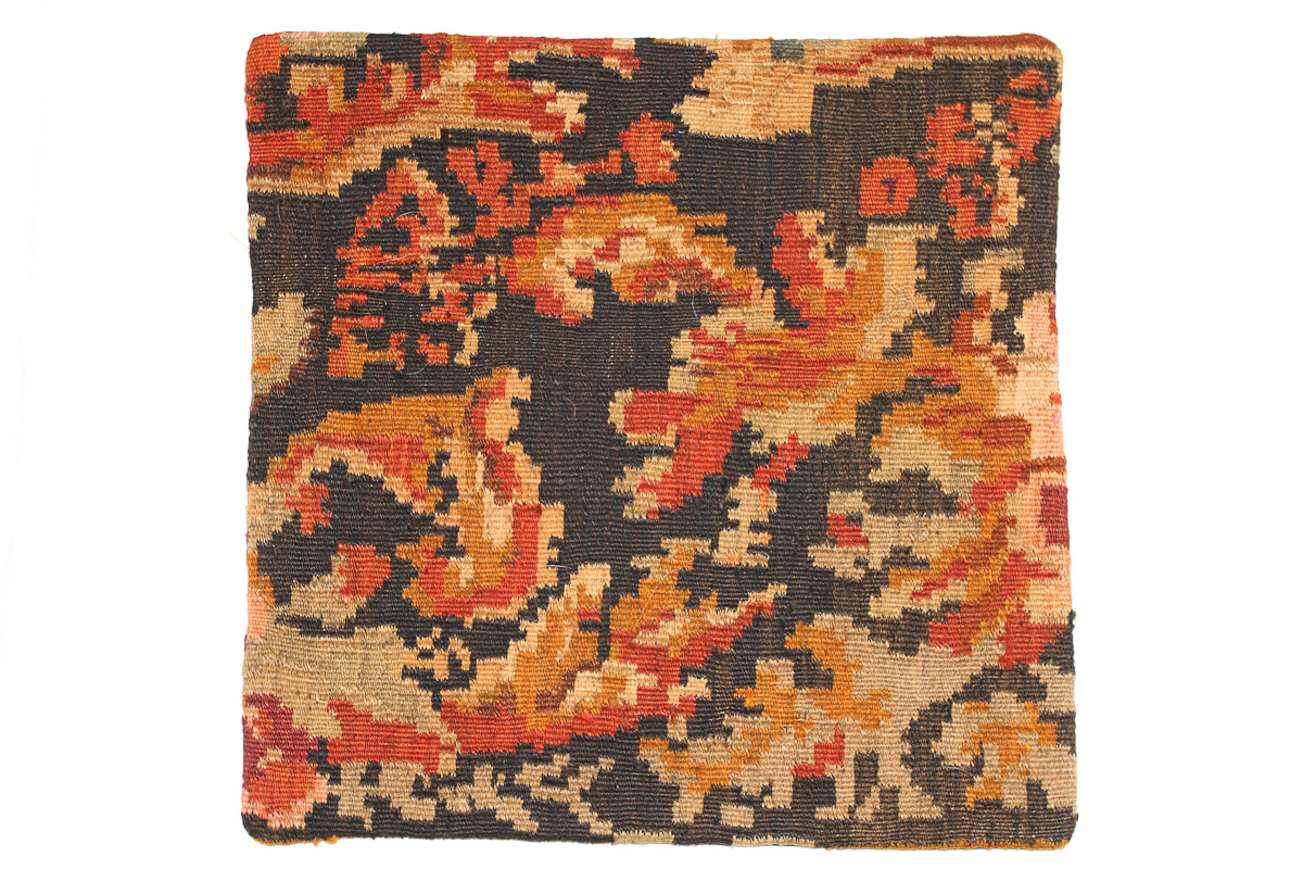 Rozenkelim kussen nr 16039 (45cm x 45cm) Kussen gemaakt van authentieke rozenkelim, inclusief binnenkussen