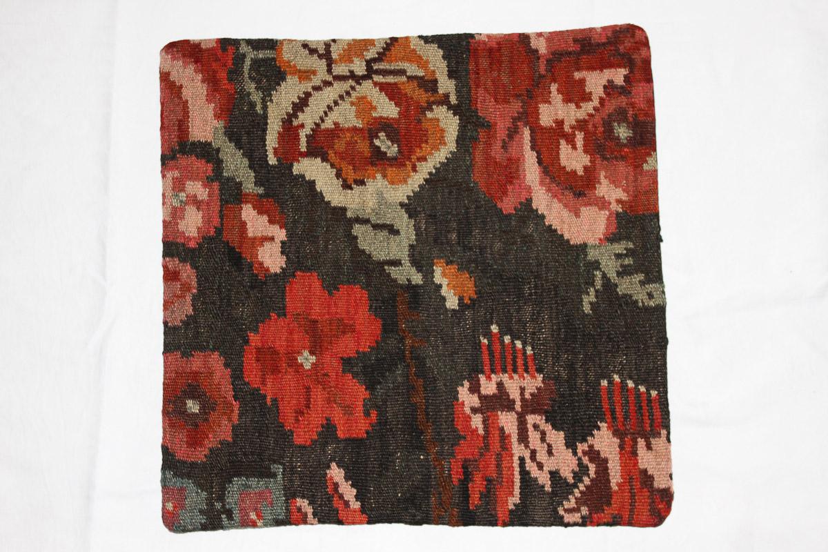 Rozenkelim kussen nr 16044 (45cm x 45cm) Kussen gemaakt van authentieke rozenkelim, inclusief binnenkussen