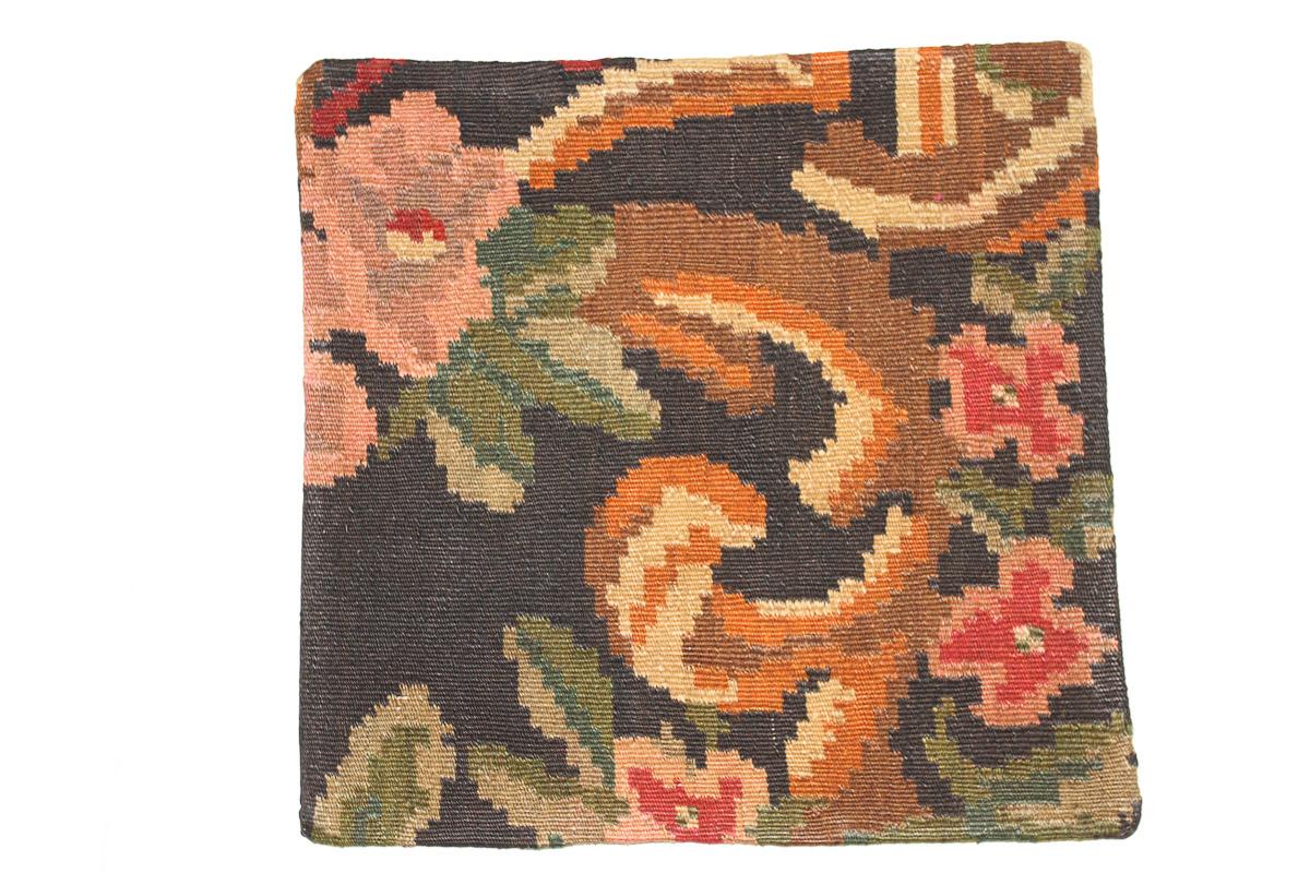 Rozenkelim kussen nr 16049 (45cm x 45cm) Kussen gemaakt van authentieke rozenkelim, inclusief binnenkussen